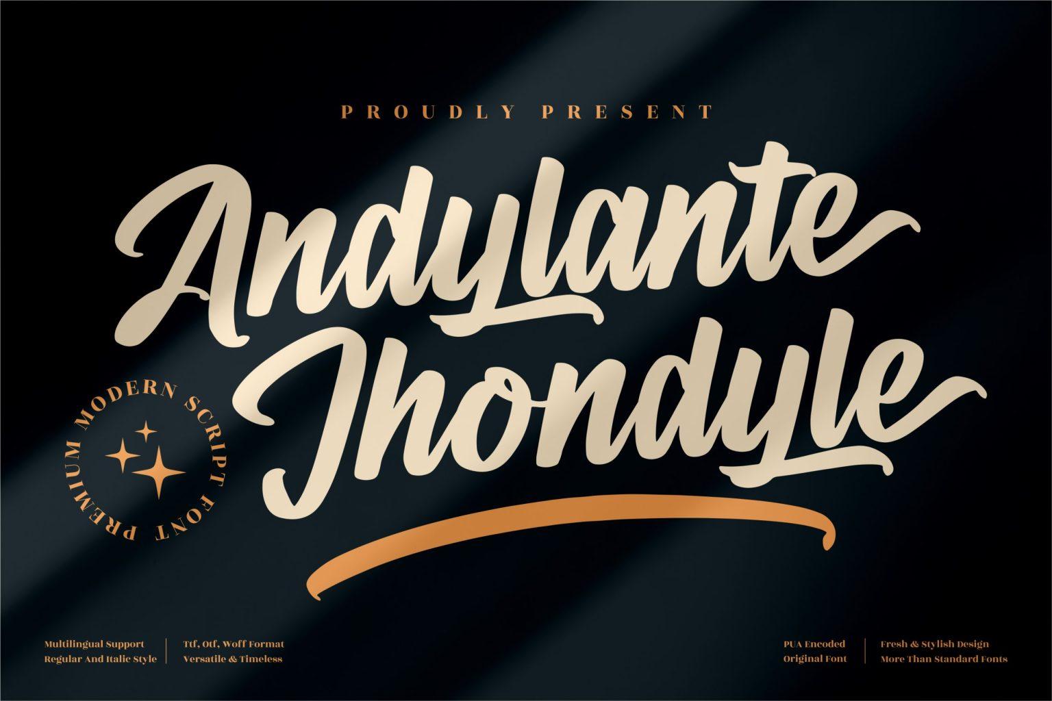 Andylante Jhondyle Script Font
