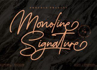 Monoline Signature Script Font