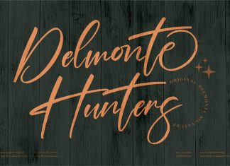 Delmonte Hunters Script Font