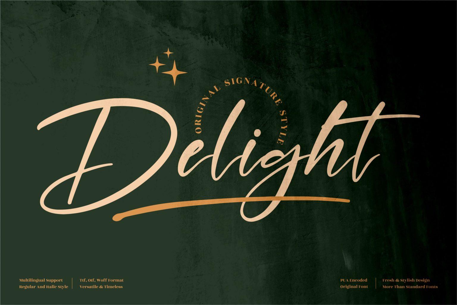 Delight Script Font