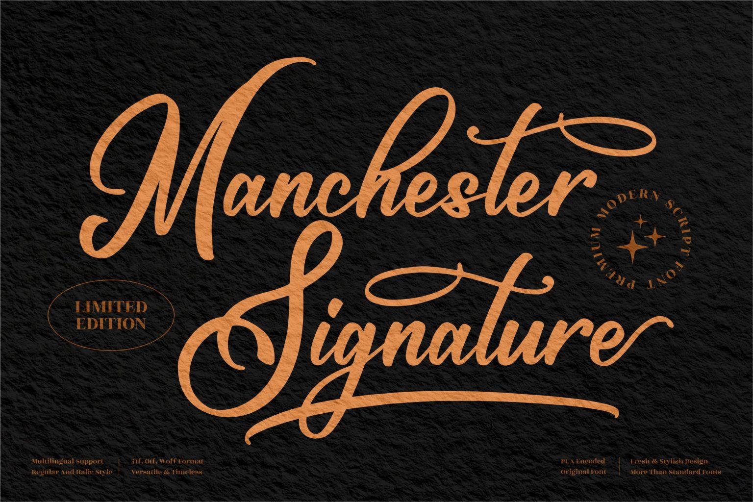 Maschester Signature Font