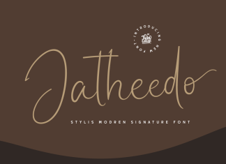 Jatheedo Script Font