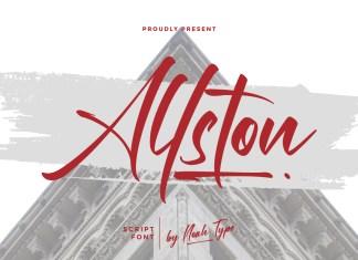 Allston Script Font