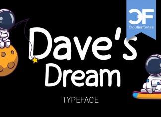 CF Dave's Dream Display Font