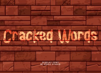 Cracked Words Display Font