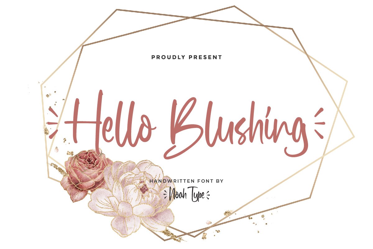 Hello Blushing Script Font