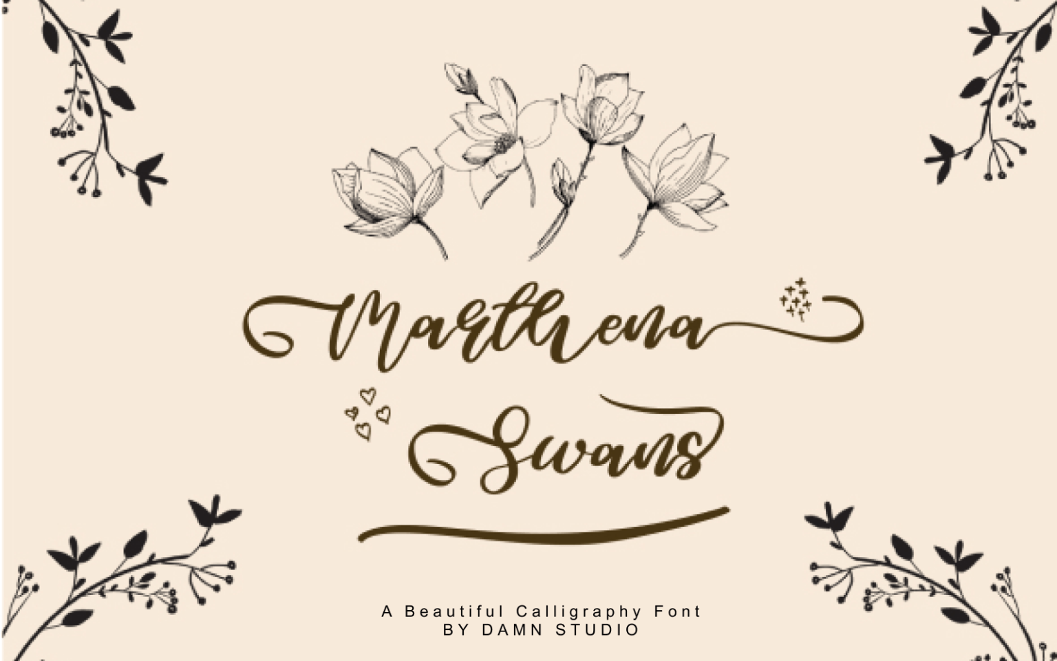 Marthena Swans Script Font