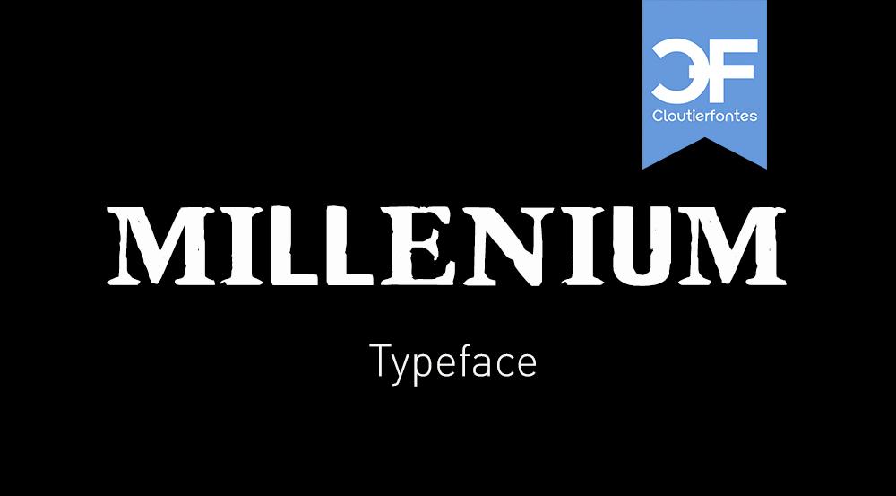 CF Millenium Display Font