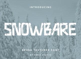 Snowbare Brush Font