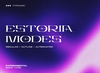 Estoria Futuristic Display Font