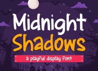 Midnight Shadows Display Font
