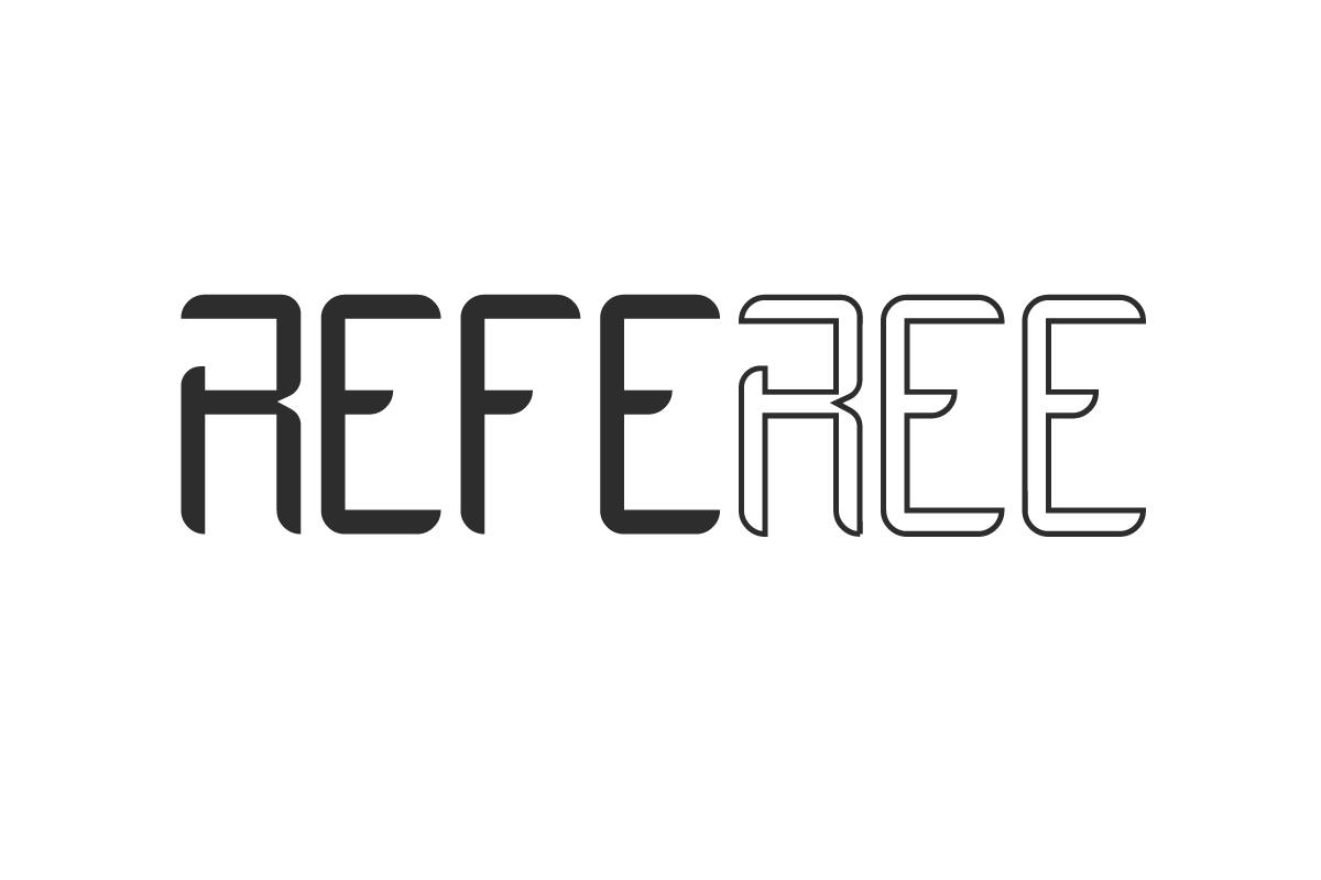 Referee Display Font