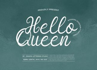 Hello Queen Script Font