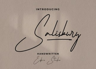 Salisbury Handwritten Font