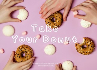 Take Your Donut Display Font