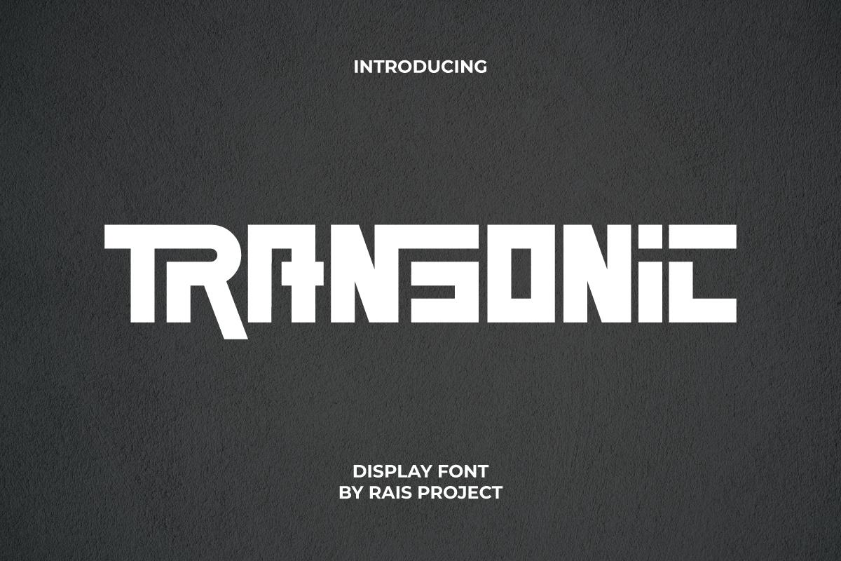 Transonic Display Font