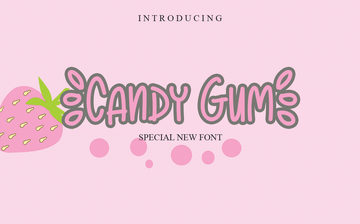 Candy Gum Script Font