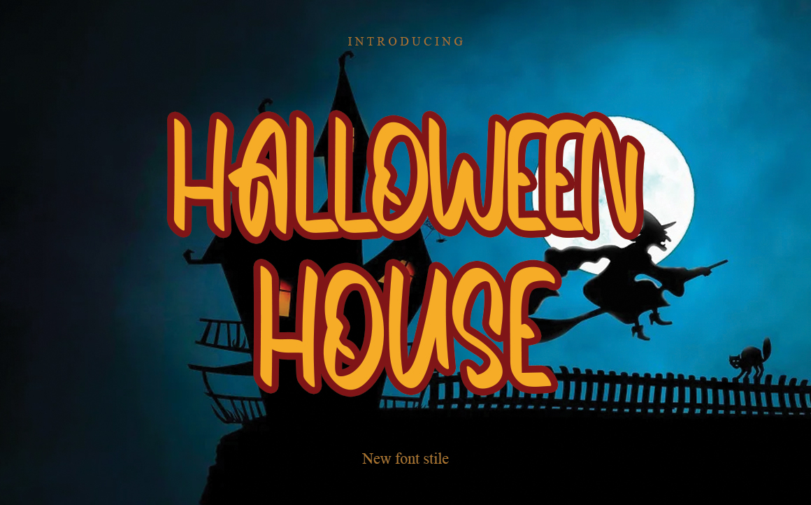 Halloween House Display Font