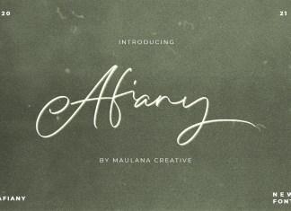 Afiany Script Font