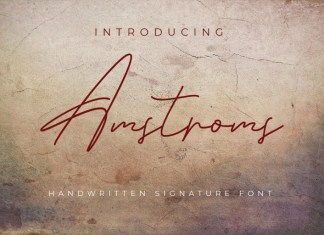 Amstroms Handwritten Font