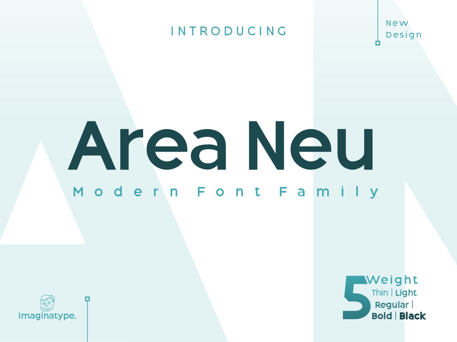 Area Neu Sans Serif Font