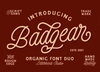 Badgear Script Font