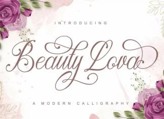 Beauty Lova Calligraphy Font