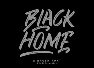 BLACK HOME Brush Font