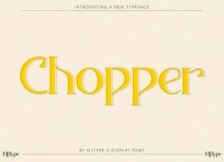 Chopper Serif Font