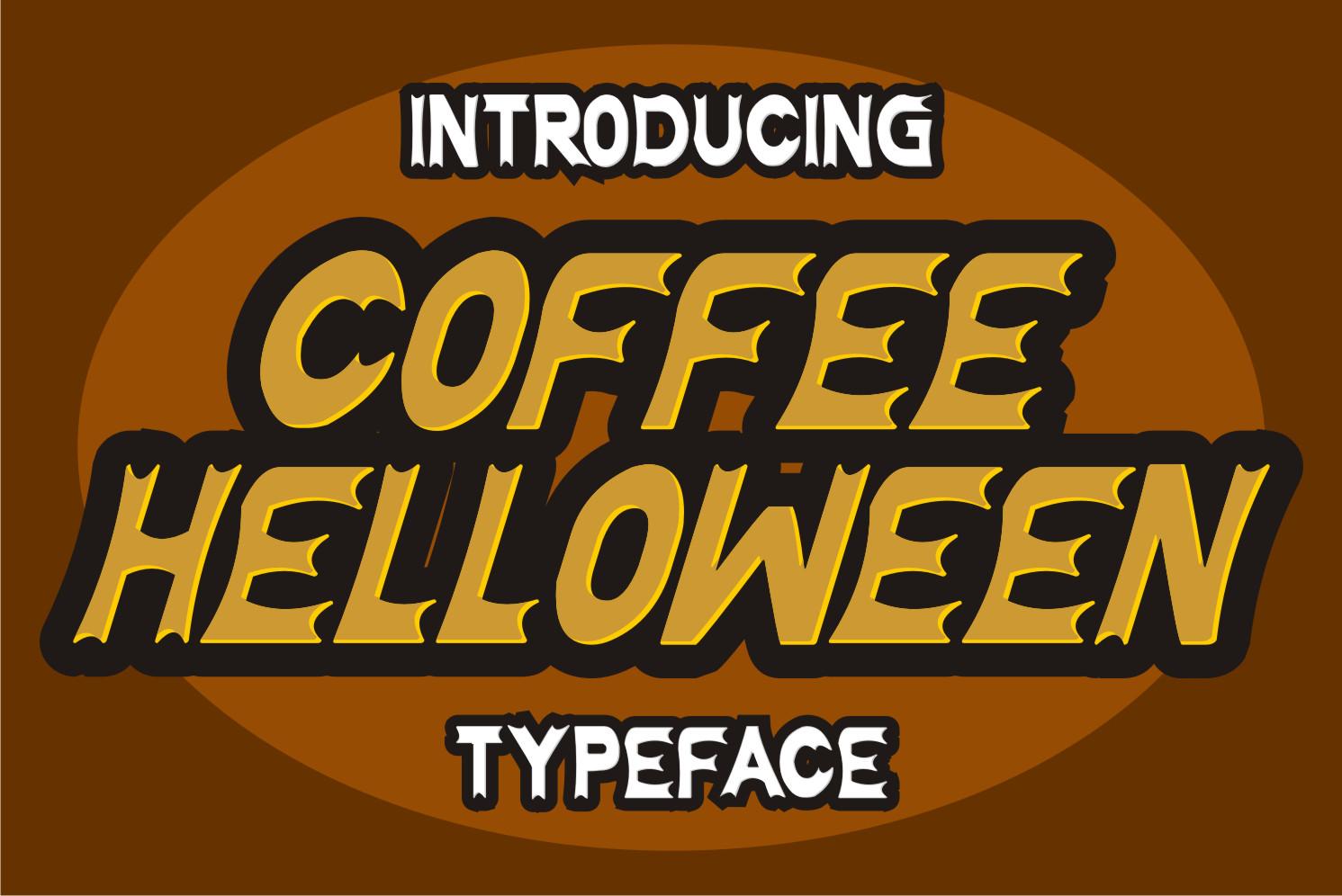 Coffee Halloween Display Font