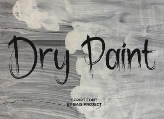 Dry Paint Brush Font