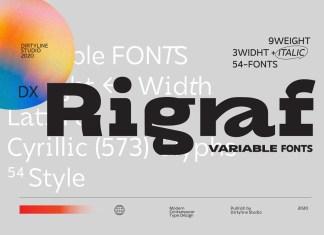Dx Rigraf Sans Serif Font