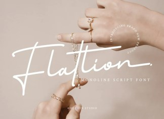 Flatlion Handwritten Font