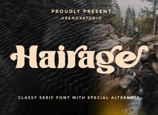 Hairage Display Font