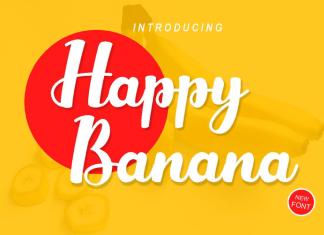 Happy Banana Script Font