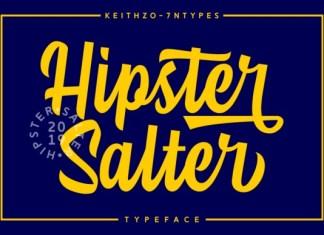 Hipster Salter Bold Script Font