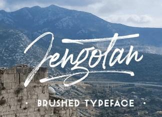 Jengotan Brush Font