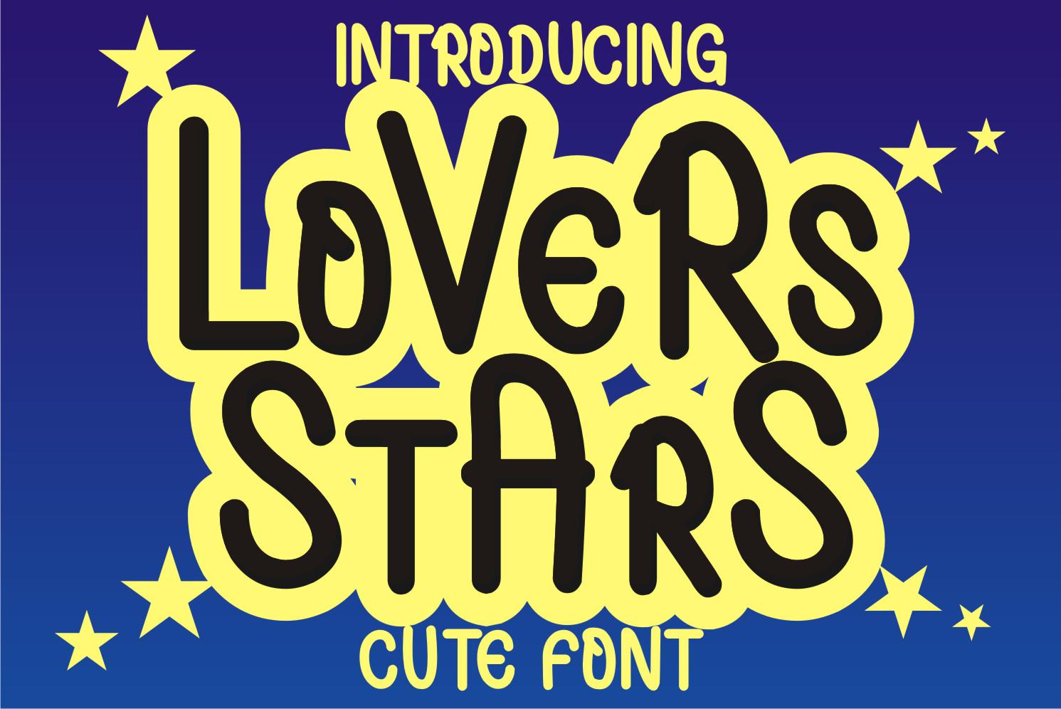 Lovers Stars Display Font