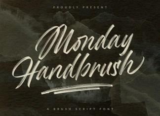 Monday Handbrush Brush Font