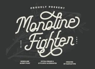 Monoline Fighter Script Font