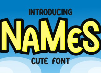 Names Display Font
