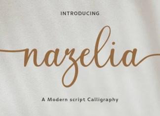 Nazelia Calligraphy Font