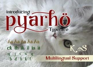 Pyarho Serif Font