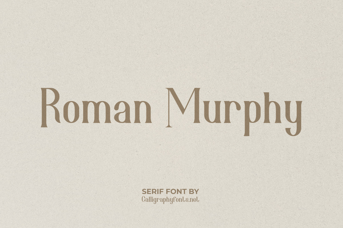 Roman Murphy Serif Font