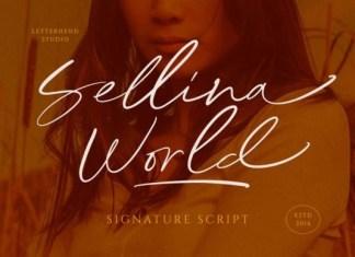 Sellina Word Handwritten Font