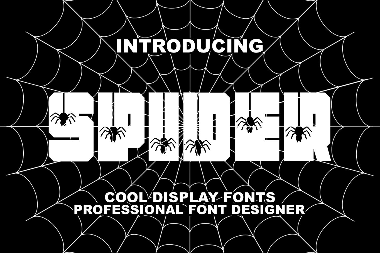 Spider Display Font