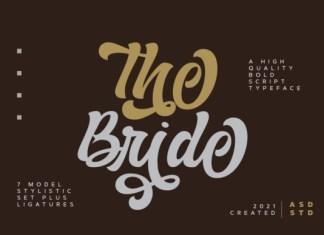 The Bride Bold Script Font