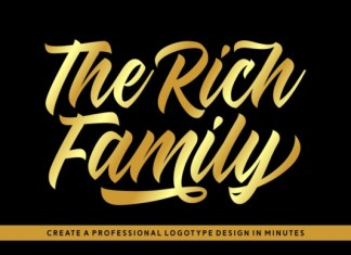 The Rich Family Bold Script Font
