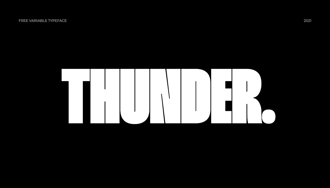 Thunder Sans Serif Font