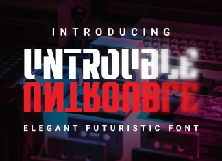 Untrouble Display Font